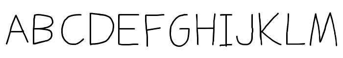 Daniel's Handwriting Font UPPERCASE