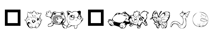 Dani's Pikachu Font OTHER CHARS