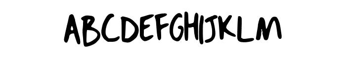 Dans Hand Writing Font UPPERCASE