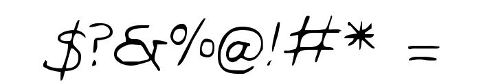 Dan's Hand Font OTHER CHARS