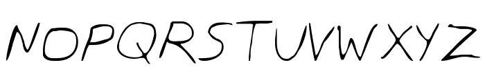 Dan's Hand Font UPPERCASE