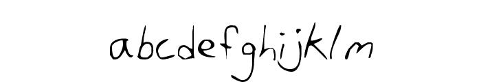 Dan's Hand Font LOWERCASE