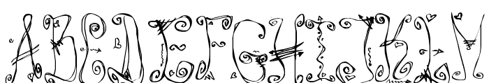Danzin Regular Font UPPERCASE