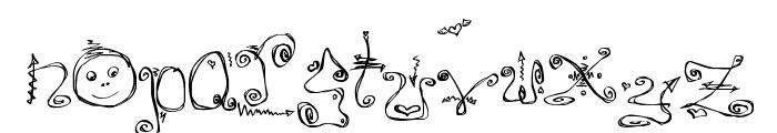 Danzin Regular Font LOWERCASE