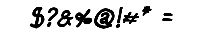Darbog Bold Italic Font OTHER CHARS