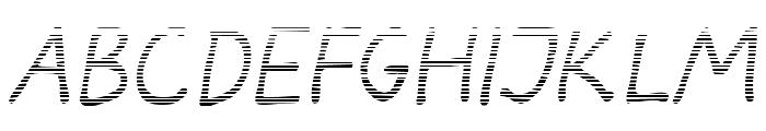 Darbog gradient Italic Font LOWERCASE