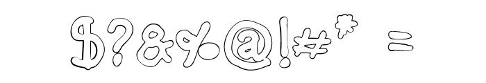 Darbog outline Bold Font OTHER CHARS