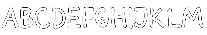 Darbog outline Bold Font UPPERCASE
