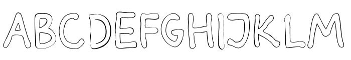 Darbog outline Bold Font LOWERCASE