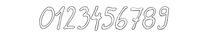 Darbog outline Italic Font OTHER CHARS