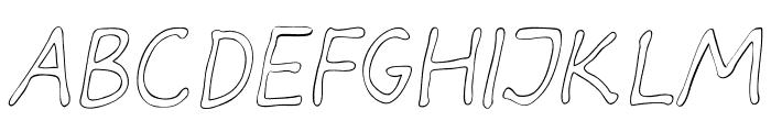 Darbog outline Italic Font LOWERCASE
