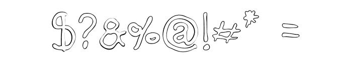 Darbog outline Font OTHER CHARS