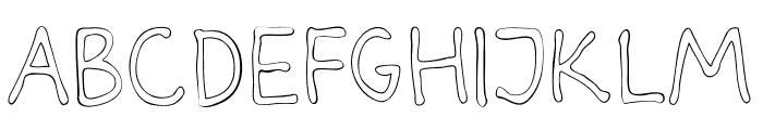 Darbog outline Font LOWERCASE