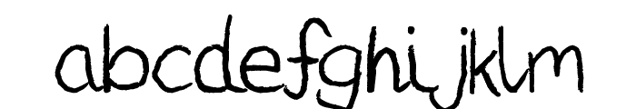 Darius Gardner Font LOWERCASE
