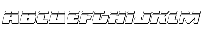 Dark Alliance Bullet Italic Font LOWERCASE