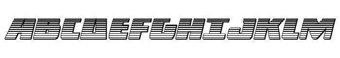 Dark Alliance Chrome Italic Font UPPERCASE