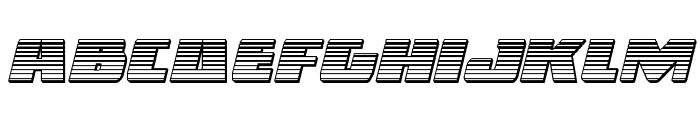 Dark Alliance Chrome Italic Font LOWERCASE