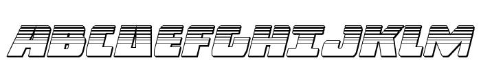 Dark Alliance Platinum Italic Font UPPERCASE