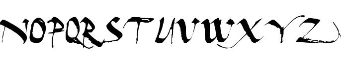 Dark Horse Expanded Font UPPERCASE