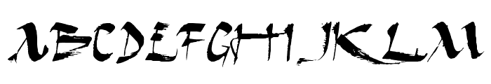 Dark Horse Expanded Font LOWERCASE