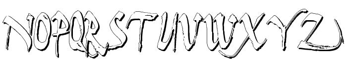 Dark Horse Shadow Font LOWERCASE