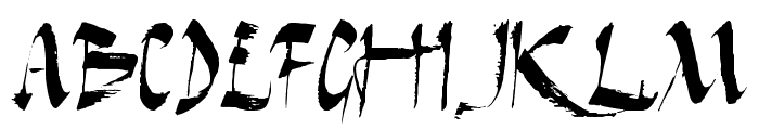 Dark Horse Font UPPERCASE