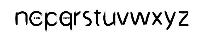 Dark Pinter Personal Use Grunge Brush Font LOWERCASE