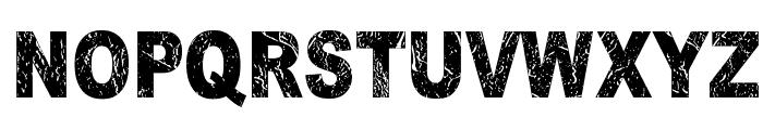 Dark Underground Font UPPERCASE