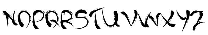 Dark past Font UPPERCASE