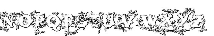 DarkWoodBeveled Font LOWERCASE
