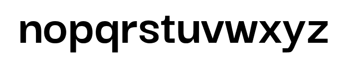Darker Grotesque Bold Font LOWERCASE