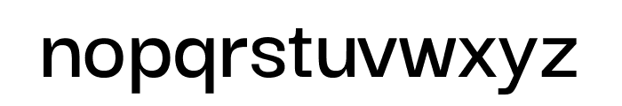 Darker Grotesque SemiBold Font LOWERCASE