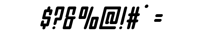 Darklighter Condensed Italic Font OTHER CHARS