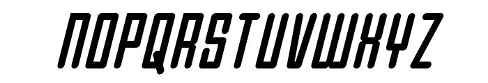 Darklighter Condensed Italic Font UPPERCASE