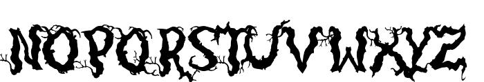 Darkwood Font UPPERCASE