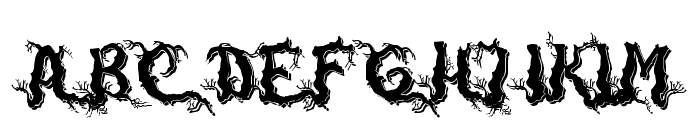 DarkwoodShadow Font UPPERCASE