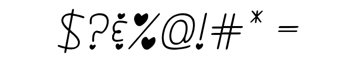 Darlin' Pop Italics Font OTHER CHARS
