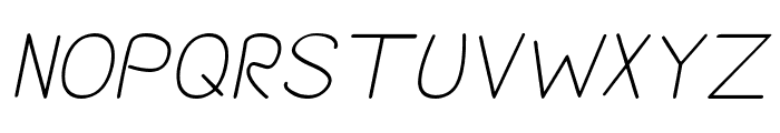 Darlin' Pop Italics Font UPPERCASE