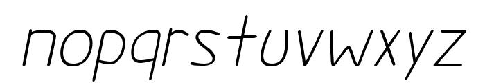 Darlin' Pop Italics Font LOWERCASE
