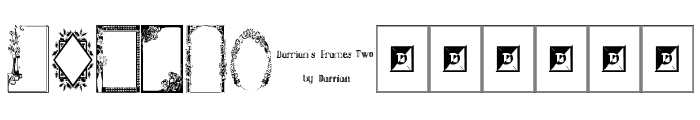 Darrians Frames Two Font UPPERCASE