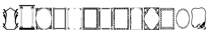 Darrians Frames Two Font LOWERCASE
