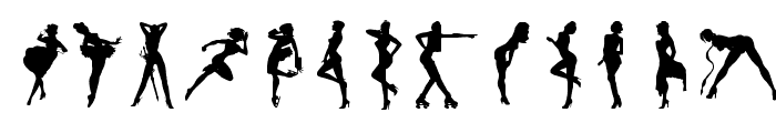 Darrians Sexy Silhouettes 2 Font LOWERCASE