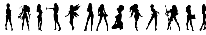 Darrians Sexy Silhouettes 3 Font UPPERCASE