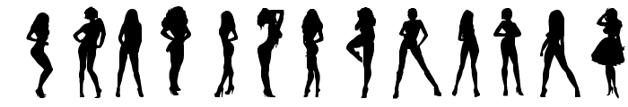 Darrians Sexy Silhouettes 3 Font LOWERCASE