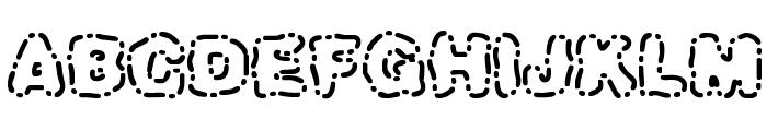 Dash Dot [BRK] Font UPPERCASE