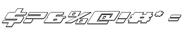 Dassault 3D Italic Font OTHER CHARS