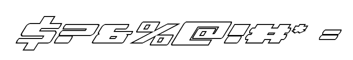 Dassault Outline Italic Font OTHER CHARS