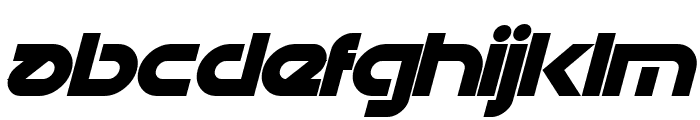 Datacron Bold Italic Font LOWERCASE
