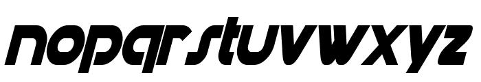 Datacron Condensed Bold Italic Font LOWERCASE