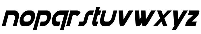 Datacron Condensed Italic Font LOWERCASE